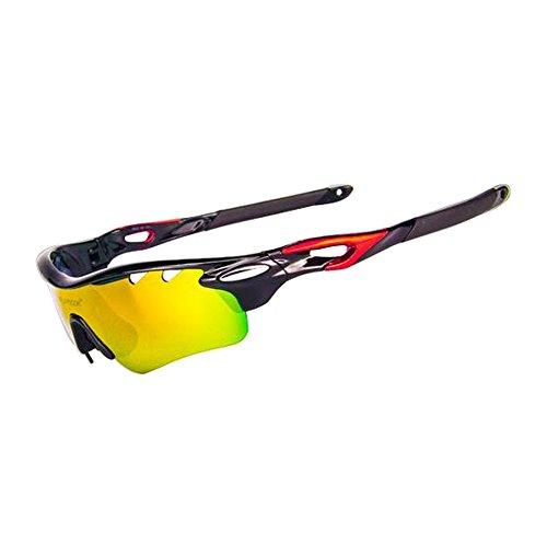 Cheap Running Sports Sunglasses O Matter Frame Earsock Iridium Lens 5 Extra Pairs Exchangeable Lenses Men Women Cycling Road Polarized Cycling Glasses White Black Red Gray Green (Black, Black)