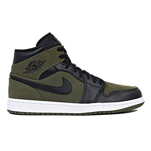 Jordan Nike Men's Air 1 MID Dark Olive 554724-301 (Size: 10)