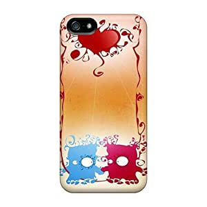 Fashionable Style Case Cover Skin For Iphone 5/5s- Cartoon Monster Love