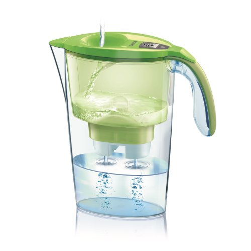 Laica Stream Water Filter Pitcher with Bi-flux MineralBalance Filter System, J432H Green by Laica