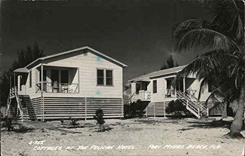 - Cottages at The Pelican Hotel Fort Myers Beach, Florida Original Vintage Postcard