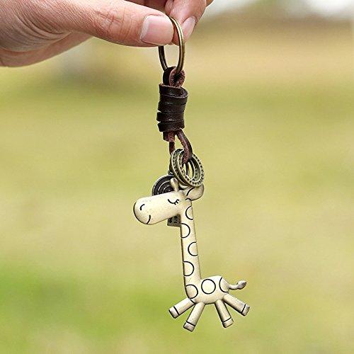 Spaufu Porte-Cl/és Porte-Cl/és Fantaisie Bronze Girafe Forme Pendentif Cl/é de Voiture Porte-Cl/és Sac /à Dos Sac /à Main Sacs /à Suspendre D/écorations pour Hommes Femmes Filles Cadeau Accessoire