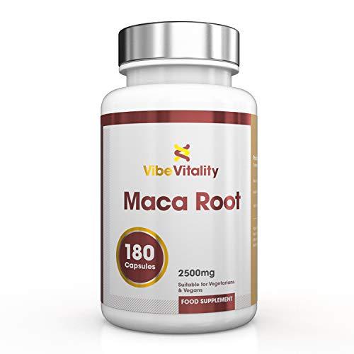 Vibe Vitality Macawurzel hochdosiert - 2500 mg pro Kapsel, 180 vegane Kapseln