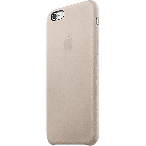 Original Apple Handyhülle iPhone 6 Plus / 6S Plus MKXE2ZM/A Leder Leather Cover Case Bumper Schutzhülle für Apple iPhone 6 Plus und 6S Plus in Grau