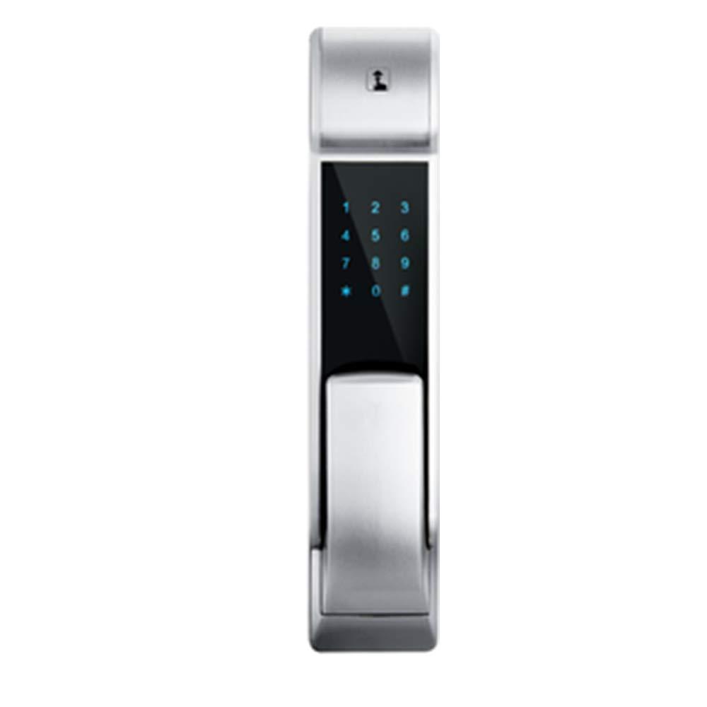 スマートロック 指紋ドアロックプッシュ、プルAPP、指紋、カード、パスワード、メカニカルキーロック解除、シルバー,LEFT,2 B07RKWXB25 LEFT 2