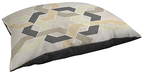 Manual Woodworkers & Weavers Indoor/Outdoor Large Breed Pet Bed, Non Embellished Deco Stitch, Multi Colored