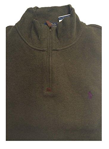 Polo Ralph Lauren Boys Half Zip Pullover Sweater (S(8), Holiday Alpine Heather) - Alpine Kids Sweater