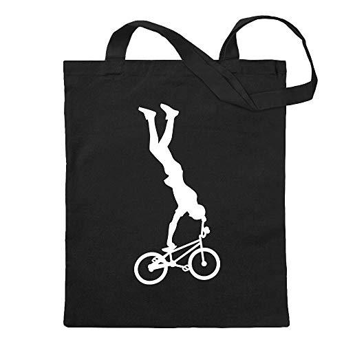 BMX freestyle rider figure jute bag printed Design Print Gift Idea (Chris Schwarzen Designs)