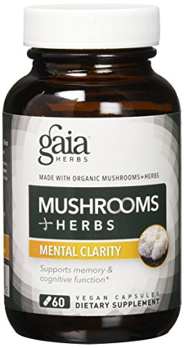Mental Clarity New Chapter (Gaia Herbs Mushrooms + Herbs Mental Clarity Capsules, 60 Count)