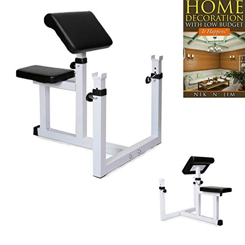 Seated Arm Curl Bench Machine Commercial Preacher Dumbbell Biceps Home Gym New Adjustable-it - House Deals by House Deals