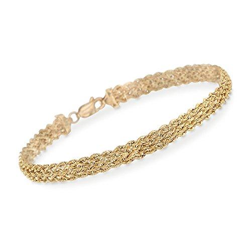 Yellow Gold Braided Bracelet - 3