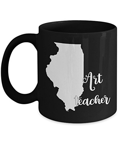 Illinois Art Teacher Home State Back To School Teacher Day Coffee Mug Gift 11oz Black - Costume History Lesson Plans