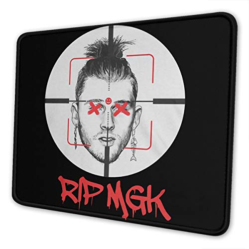 Eminem KillShot Rip MGK Hip Hop Mouse Pad,Mouse Pad Fashion Rectangle Non-Slip Rubber Mousepad Outer Space Gaming Mouse Pad for Computers Office Decor