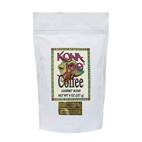 Decaf 8 Oz Gourmet Coffee - Kona Joe Gourmet Decaf Coffee Blend, Medium Roast Ground Coffee (8 oz)