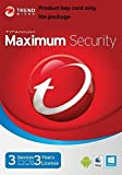 Trend Micro Maximum Security 2018 version12 3 Devices 3 Years for PC, Mac, Android & IOS | Product Key card Win10