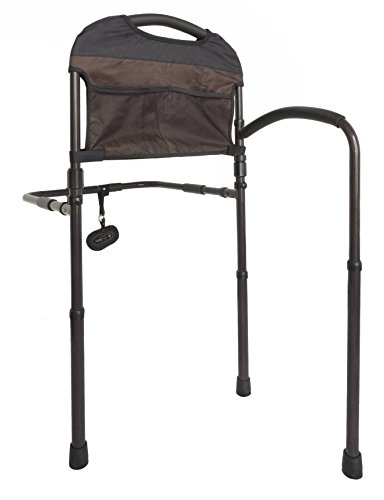Stander Mobility Adult Home Bed Rail - Elderly Support Bed Handle + Swing-Out Mobility Arm & Adustable Legs Floor Support & -
