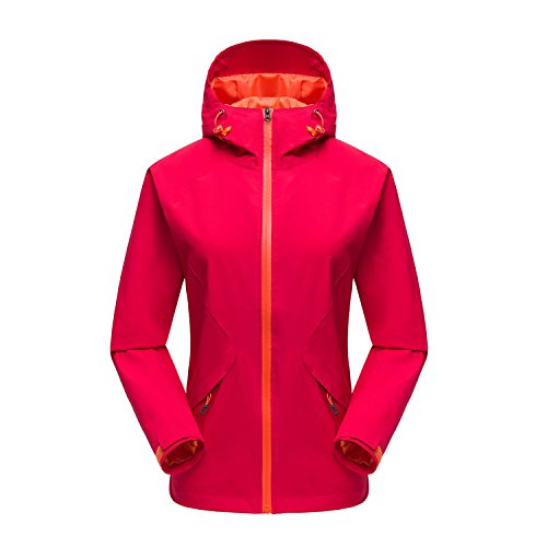 Men XL Waterproof FYM Women DYF RedColorFemale JACKETS Sleeves Zipper Long Outdoor Coat Jacket Collar qRRgEOa