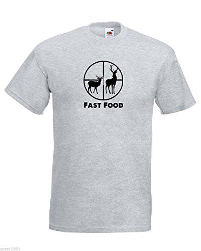 Silhouette da gratuito Grigio T uomo Decal e Scoop cervo con al food caccia shirt fast Modello Silhouette Deer Camicia Regalo citazione fxw4a