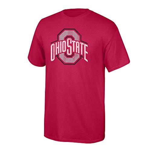 Elite Fan Shop NCAA Men's Ohio State Buckeyes T Shirt Team Vintage Ohio State Buckeyes Red Large (Osu Vs U Of O Civil War)