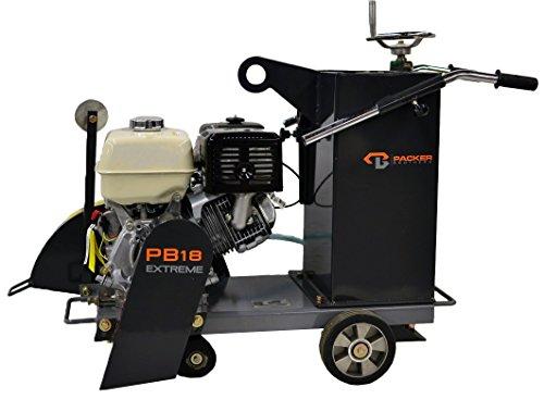 Packer Bros PB18H13 Extreme Walk Behind Concrete Saw, 13 hp Honda Gas Powered GX390 Motor, 18