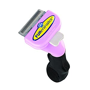 Furminator for Cats Undercoat Deshedding Tool for Cats, Stainless Edge with Fur Ejector 12