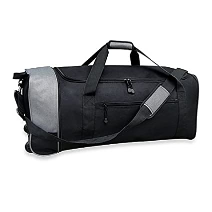 d4faecae644b Travelers Club 32-Inch Compactable Rolling Duffel with Roomy Side Pockets