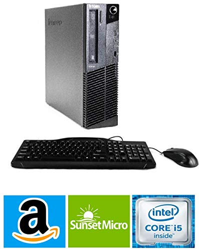 """Lenovo ThinkCentre M82 SFF Business Desktop Computer, Intel Quad-Core i5-3470 Processor 3.2GHz (up to 3.6GHz), 12GB RAM, 2TB HDD, DVD ROM, Windows 10 Professional (Renewed)"""