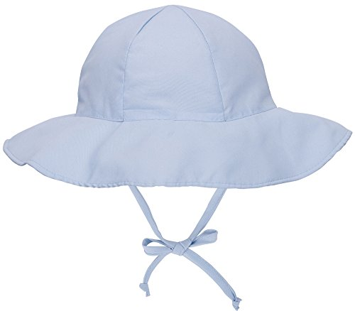 ThunderCloud Baby 50+ UPF Protective Wide Brim Sun Hat,Light Blue,12-24 Months ()