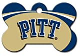 Personalized Laser Engraved 1.5 x 1 inch Pittsburgh Panthers Bone Shape Pet ID Tag- Free Tag Silencer