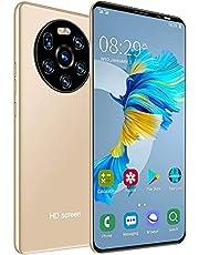 5.45in HD-helskärmsmobiltelefon, 1 + 8 GB Dual-kort Dual Standby-smarttelefon, högupplöst kamera, ansiktsigenkänning och fingeravtrycksupplåsande smartphone. (Guld)