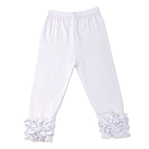 IBTOM CASTLE Baby Girls Layered Double Icing Ruffle Cotton Shorts Bottoms Boutique Summer Pants … Ivory 12 Months by IBTOM CASTLE