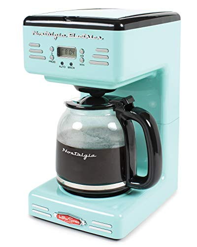 Nostalgia RCOF120AQ Retro 12-Cup Programmable Coffee Maker - Aqua Blue