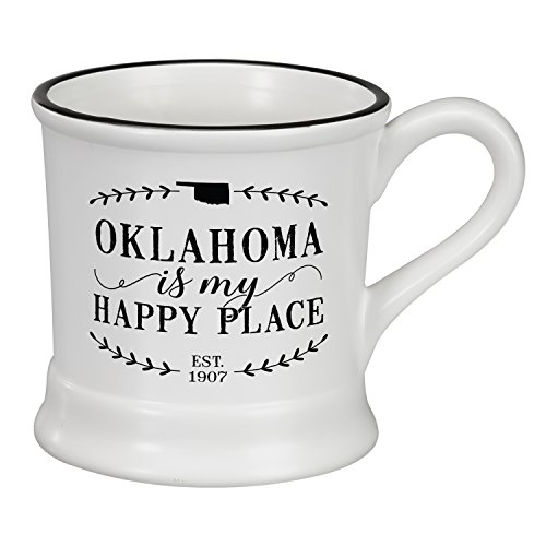 Occasionally Made O-HSS-MUG-OK 14 oz Oklahoma Ceramic Mug (Mug Coffee Oklahoma)