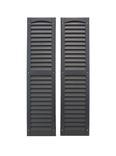 Louvered Shed Shutter or Playhouse Shutter Black