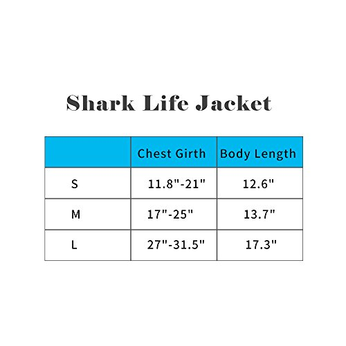 BFLIfe Dog Life Jacket Small Shark Pet Swimming Vest for Dogs by BFLIfe (Image #1)'