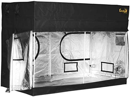 Gorilla Grow Tent Lite Line Complete 8-Foot by 8-Foot Reflective Hydroponic Grow Tent for Growing Indoor Plants Steel Interlocking Poles, Windows, Floor Tray