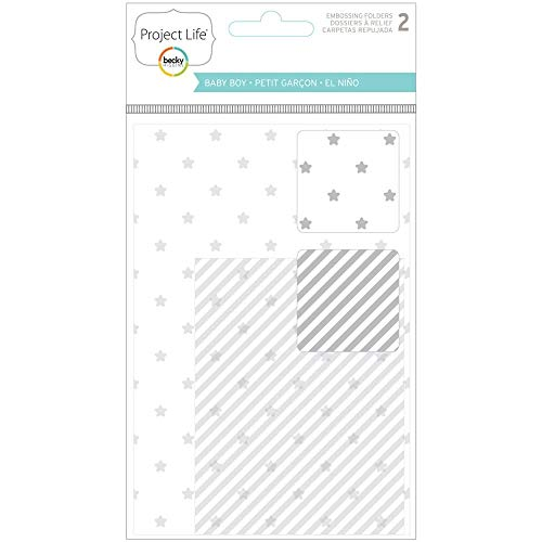 Project Life Baby Boy Embossing Folders - 2 per package