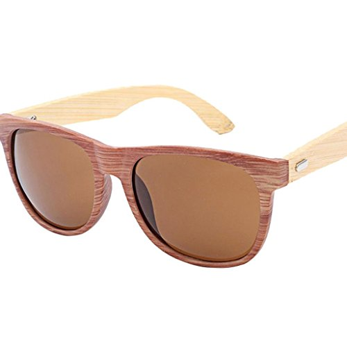 YJYdada Bamboo Sunglasses for Men Women Sunglasses Travel Glasses Leg Wooden Glasses - Sunglasses B&g