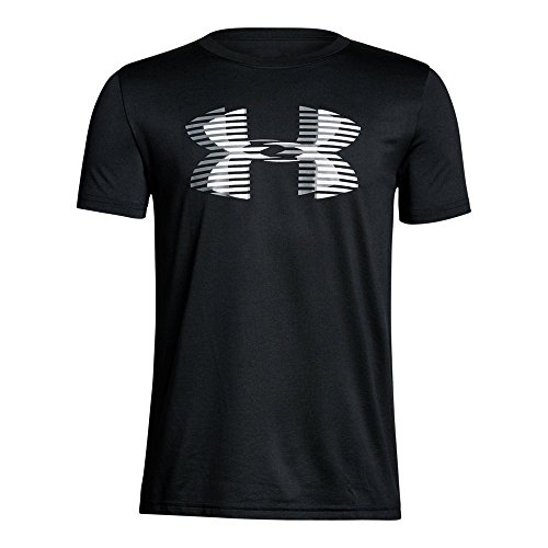 Price comparison product image Under Armour Boys' Tech Big Logo Solid T-Shirt,  Black (001) / Steel,  Youth Medium