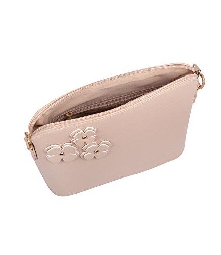 SIX Taschen, Box-Bag, Umhängetasche, mit Blumen, rosa (726-378)