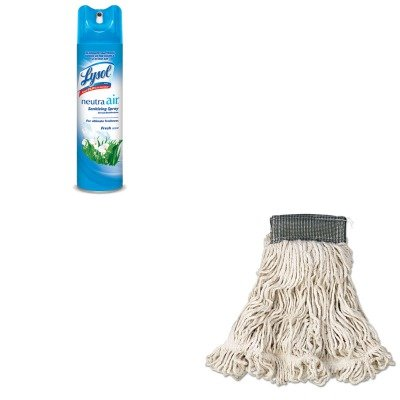 KITRAC76938EARCPA152WHI - Value Kit - Rubbermaid-White Compact Web Foot Wet Mop Heads 5quot; Headband (RCPA152WHI) and Neutra Air Fresh Scent (RAC76938EA) (Web Foot Mop Compact Wet)