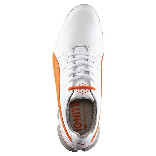 Puma Titan Tour Ignite–White de Vibrant Naranja de Drizzle