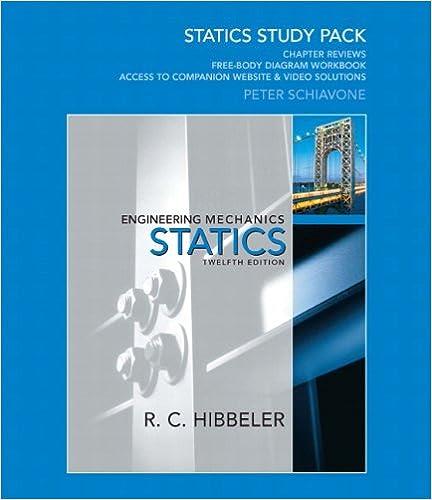 Statics study pack for engineering mechanics russell c hibbeler statics study pack for engineering mechanics 12th edition fandeluxe Gallery