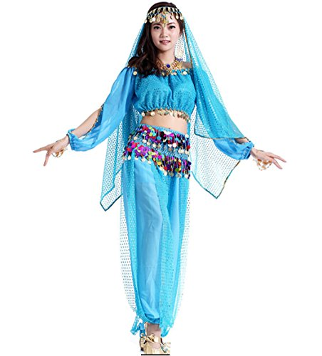 Indian Dress Dance Astage Women Sky Belly Blue Style s 6IRvqRf