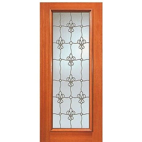 Mahogany Artistic Glass Door 902 Series - AAW Doors Inc.