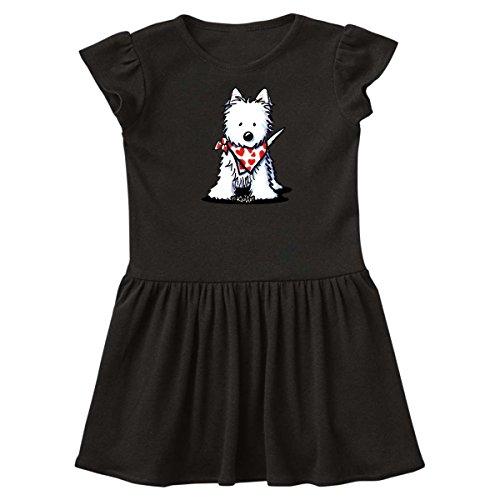 inktastic - Westie in Bandana Toddler Dress 4T Black - KiniArt 2dc6