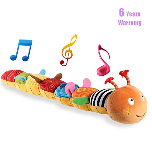 LIGHTDESIRE Musical Toy Caterpillar [Newest] Crinkle Rattle Soft with Ring Bell Toddler Plush Toy for Preschool Kid by LIGHTDESIRE