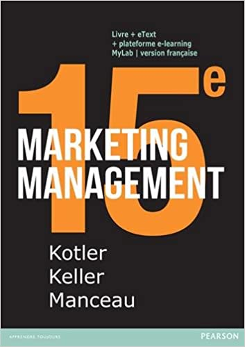 Marketing Management 15e Edition Philip Kotler 9782326001084