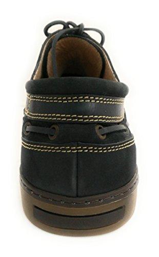 a88c176ad6dc6 ... Chaussure Zerimar En Cuir Nautique Avec Semelle En Caoutchouc Souple  100% Cuir Premium Design Marquage ...