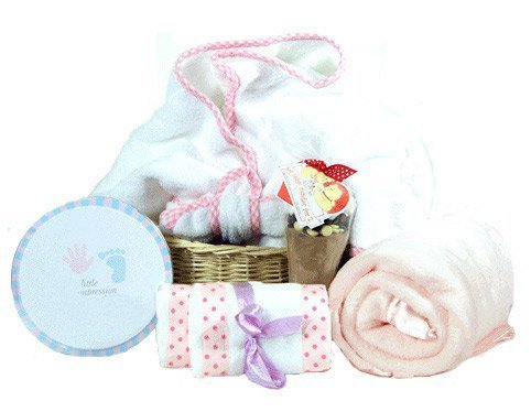 The Deluxe Personal One Girl's Baby Gift Basket